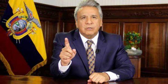 """Lenín Moreno sobre las protestas en Ecuador: """"Entraron de las FARC y del ELN, asalariados maduristas, camuflado dentro de los casi 4.000 venezolanos asilados"""""""