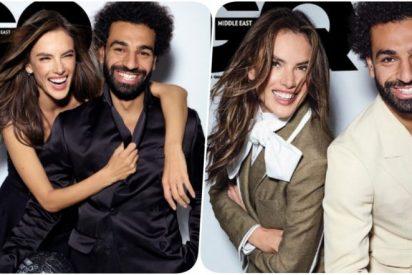 Mohamed Salah posa junto a la sensual Alessandra Ambrosio y se lía en Egipto