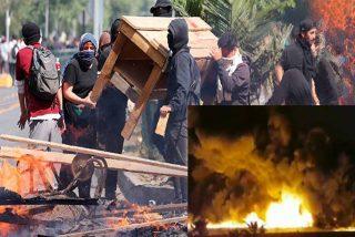 El vandalismo durante las protestas en Chile deja saldo de 3 muertos en el incendio provocado a un supermercado