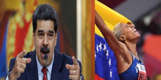 """La venezolana Yulimar Rojas gana el oro mundial en tripe salto y Maduro intenta colgarse la medalla: """"Nuestra atleta se coronó"""""""