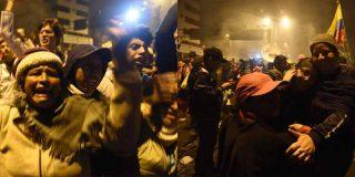 Locura en las calles de Ecuador: Así se abrazaron policías y manifestantes tras el fin de las protestas