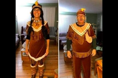 Obligan a una pareja a salir de un restaurante por 'montar un circo' disfrazados de indígenas