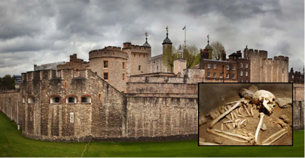 Hallazgo arqueológico: Encuentran los esqueletos de una mujer y un niño del período Tudor bajo la Torre de Londres