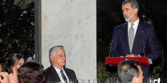 La dictadura cubana censura el valiente discurso de Felipe VI sobre democracia y DDHH
