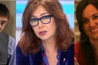 Arantxa Tirado anima a un trasnochado Monedero por meter con calzador su defensa al fraudulento Evo Morales en el programa de Ana Rosa Quintana