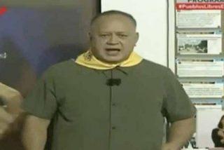 Colosal ridículo del chavista Diosdado Cabello en su propio progama arremetiendo contra Periodista Digital