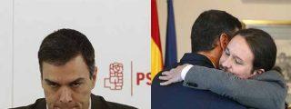 """Tuiteros retratan a Sánchez y le escupen la hemeroteca a la cara: """"El final de Podemos es la Venezuela de Chávez"""""""