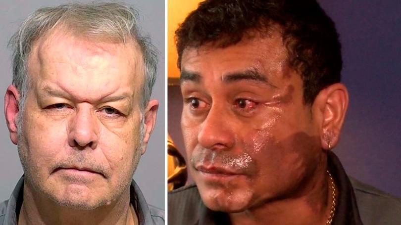 """Vídeo: Racista norteamericano echa ácido al rostro de un peruano por """"invadir su país"""""""