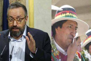 """Juan Carlos Girauta ya se muestra como tertuliano y embiste al """"narco"""" Evo Morales: """"¿Cómo va el negocio, Evito?"""""""