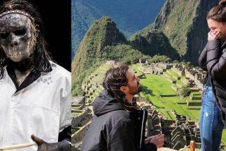 El baterista de Slipknot muestra su 'corazoncito' y le pide matrimonio a su novia en Machu Picchu