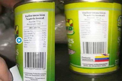 Vídeo: Descubren latas de sardinas caducadas pero reetiquetadas en las cajas Clap que reparte el régimen de Maduro