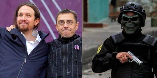 Pablo Iglesias y Monedero 'sacan las uñas' por la dictadura venezolana: Comparan los 'escuadrones de la muerte' de Maduro con las cargas policiales de Chile y Ecuador