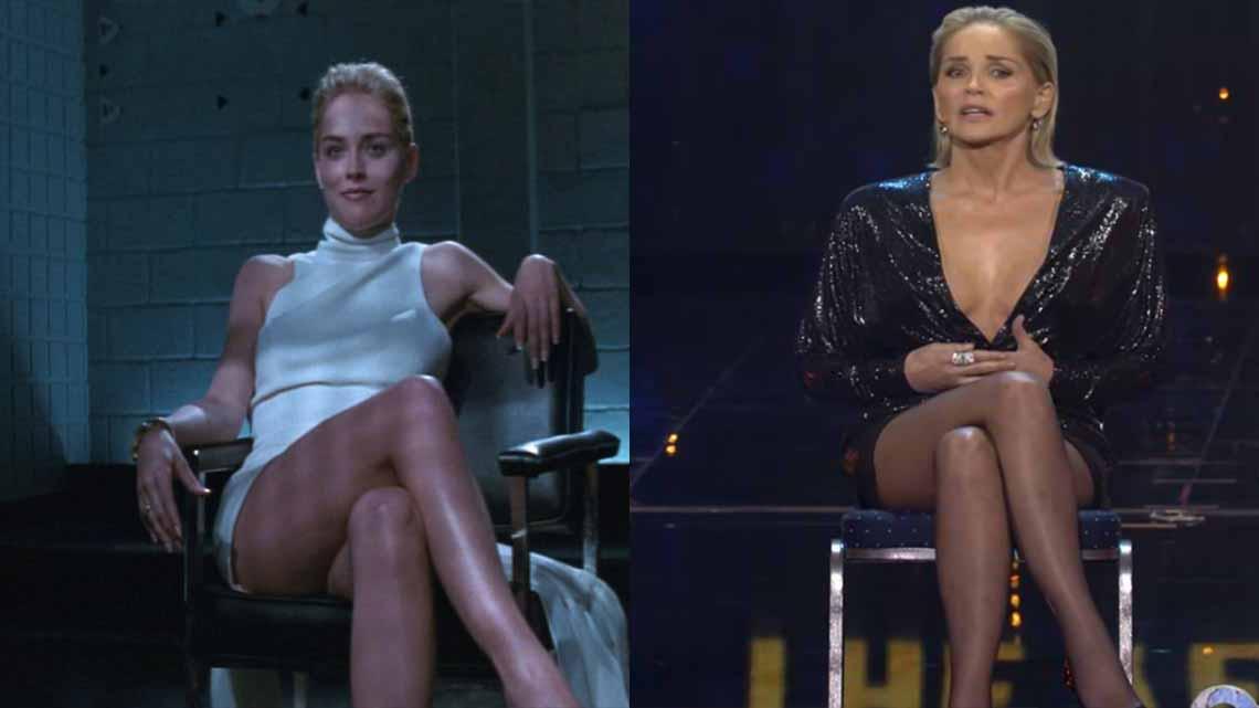 A los 61 años: Así recreó Sharon Stone su escena más caliente de 'Instinto Básico'