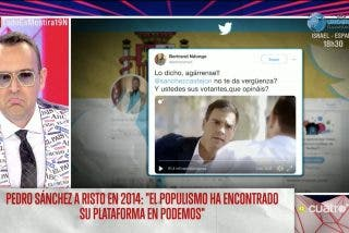 Risto Mejide minimiza que Pedro Sánchez le mentiera a la cara al negar un pacto con Podemos y transforma su frustración en un infantil ataque a Vox