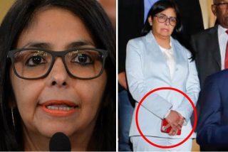 Vergüenza chavista: Pillan a la vicepresidenta de Nicolás Maduro con un costoso Iphone 11Pro