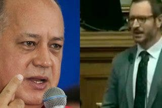 El dictador Diosdado Cabello carga con su mazo y mala educación contra Javier Maroto:
