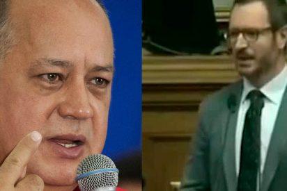 """El dictador Diosdado Cabello carga con su mazo y mala educación contra Javier Maroto: """"Nadie sabe quién es, ni nos importa... pero nuestros diputados le dieron una buena paliza"""""""