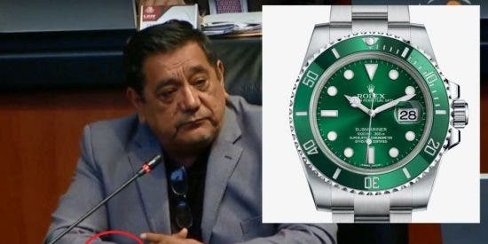 "Vídeo: Pillan a un ""austero"" senador mexicano, amigo de AMLO, con un Rolex de 10.000 dólares"