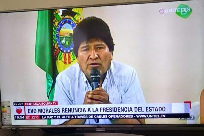 Bolivia vence al dictador Evo Morales: Renuncia forzado por la presión de las Fuerzas Armadas