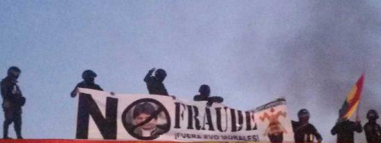 Bolivia: motín de policial pone en jaque el fraude electoral de Evo Morales