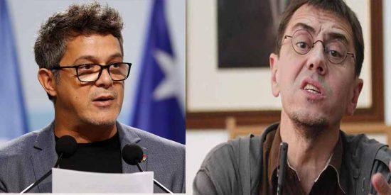 La última chulería del sectario Monedero: ataca a Alejandro Sanz para agradar a sus contribuyentes caribeños