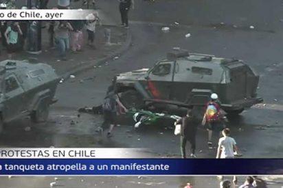 """Descartan el """"dolo"""" en el terrible atropello de un manifestante en Chile"""