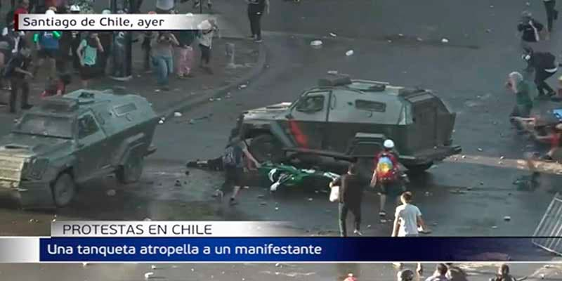 "Descartan el ""dolo"" en el terrible atropello de un manifestante en Chile"