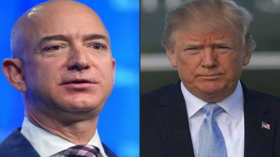 Trump contra Bezos: El enfrentamiento de dos multimillonarios por un contrato del Pentágono
