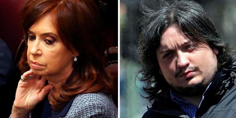 Cristina Fernández Kirchner y su hijo, ante los tribunales de Argentina