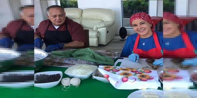 'El patrón' Diosdado Cabello mostró su cena navideña mientras el hambre impera en Venezuela