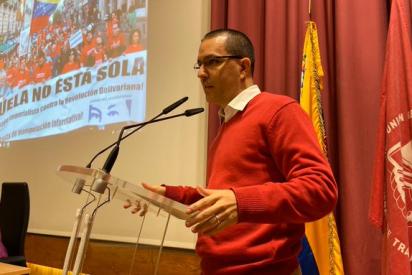 Los 'sindi-vagos' de UGT organizan una patética 'fiesta' en Madrid a la delegación del chavismo en España