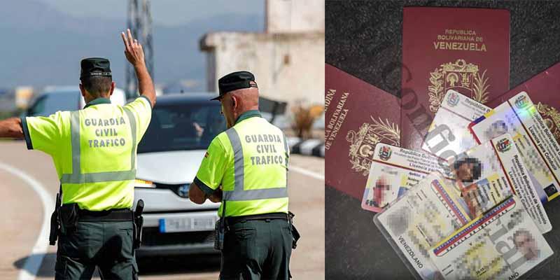 Venezolanos con carnés falsos: el 'dolor de cabeza' de la Guardia Civil en las carreteras españolas