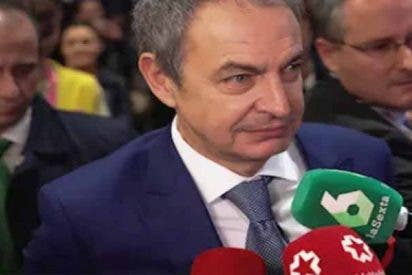 Militantes de Vox 'revientan' a Zapatero por promover la coalición de la extrema izquierda y el separatismo para gobernar España