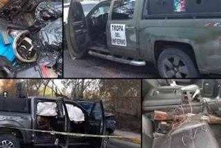 """'La Tropa del Infierno': Así son las camionetas (blindadas como el """"Papamóvil"""") con las que el Cártel del Noreste aterroriza México"""