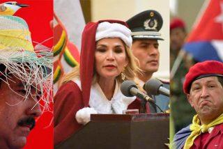 El chavismo se burla de la presidenta de Bolivia por disfrazarse de 'Papa Noel', pero olvidan estas vergonzosas fotos de Hugo Chávez y Nicolás Maduro