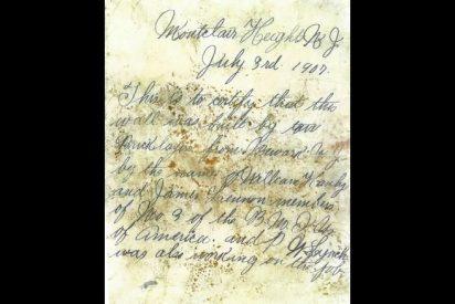 Insólito: Encuentran un mensaje escrito hace 112 años dentro de una botella