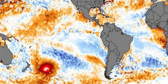 Una masa de agua caliente pone en 'jaque' a Sudamérica