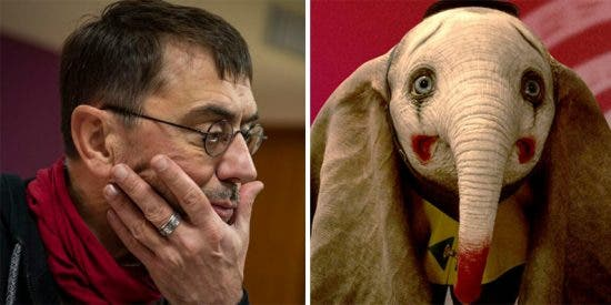 Monedero reacciona a las acusaciones desde Bolivia y compara a Podemos con 'Dumbo'