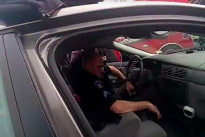 Vídeo: pillan a un policía armado y conduciendo totalmente ebrio