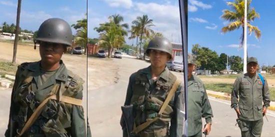 Un comandante chavista humilla a dos subalternas por no reconocerle